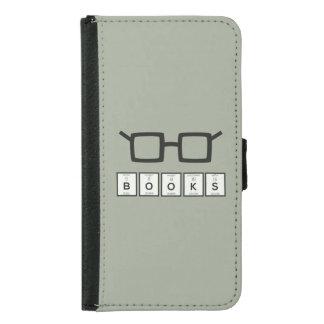 Capa Carteira Para Samsung Galaxy S5 Registra os vidros Zh6zg do nerd do elemento
