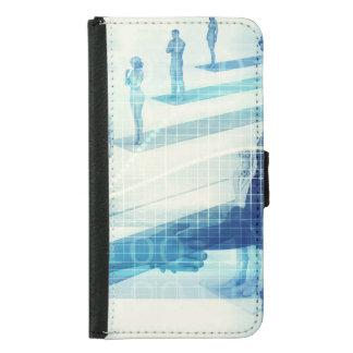 Capa Carteira Para Samsung Galaxy S5 Reunião em linha para o negócio com os homens que