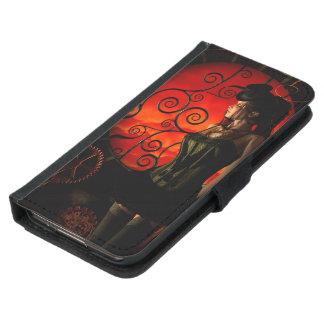 Capa Carteira Para Samsung Galaxy S5 Steampunk, senhora maravilhosa do steampunk na