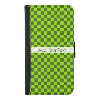 Capa Carteira Para Samsung Galaxy S5 Tabuleiro de damas clássico da combinação verde