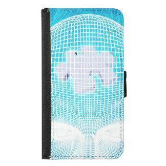 Capa Carteira Para Samsung Galaxy S5 Tecnologia futurista com a microplaqueta Soluti do