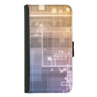 Capa Carteira Para Samsung Galaxy S5 Tecnologia futurista como uma arte da próxima