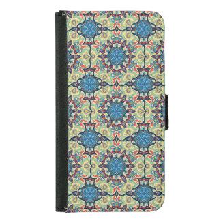 Capa Carteira Para Samsung Galaxy S5 Teste padrão floral étnico abstrato colorido de da
