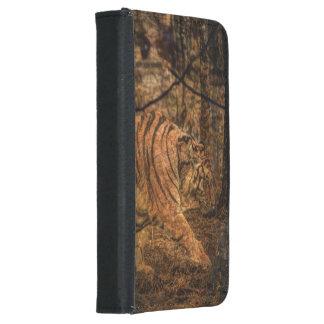 Capa Carteira Para Samsung Galaxy S5 Tigre selvagem majestoso dos animais selvagens da
