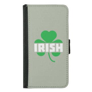 Capa Carteira Para Samsung Galaxy S5 Trevo irlandês Z2n9r do cloverleaf