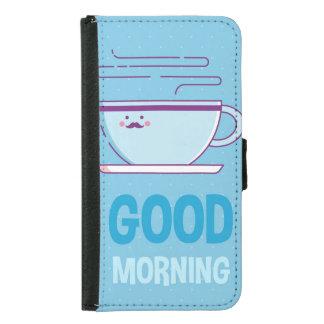 Capa Carteira Para Samsung Galaxy S5 Viciados do café do bom dia