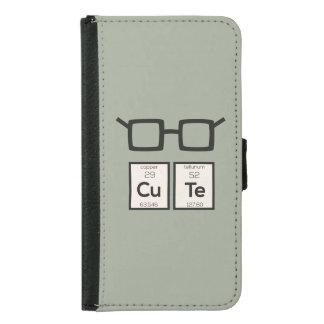 Capa Carteira Para Samsung Galaxy S5 Vidros bonitos Zwp34 do nerd do elemento químico