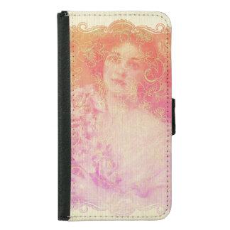 Capa Carteira Para Samsung Galaxy S5 Vintage, époque do belle, senhora bonita,