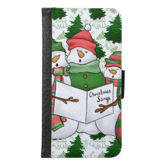 Capa Carteira Para Samsung Galaxy S6 3 Carolers do boneco de neve