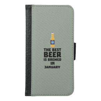 Capa Carteira Para Samsung Galaxy S6 A melhor cerveja é em maio Z96o7 fabricado cerveja