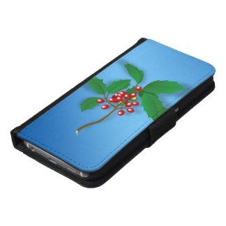 Capa Carteira Para Samsung Galaxy S6 Baga do azevinho