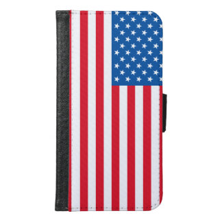 Capa Carteira Para Samsung Galaxy S6 Bandeira dos Estados Unidos da bandeira dos EUA