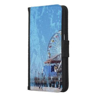 Capa Carteira Para Samsung Galaxy S6 Cais de Santa Monica