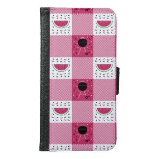 Capa Carteira Para Samsung Galaxy S6 Caixa da carteira de Smartphone do piquenique do