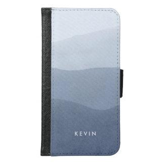 Capa Carteira Para Samsung Galaxy S6 Cinzas tranquilos modernas ao inclinação branco 2