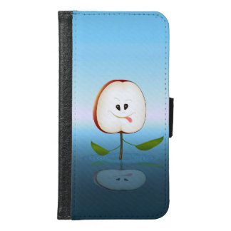 Capa Carteira Para Samsung Galaxy S6 Desenhos animados do corte de Apple