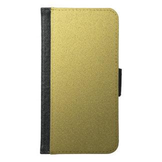 Capa Carteira Para Samsung Galaxy S6 Efeito metálico da folha do ouro
