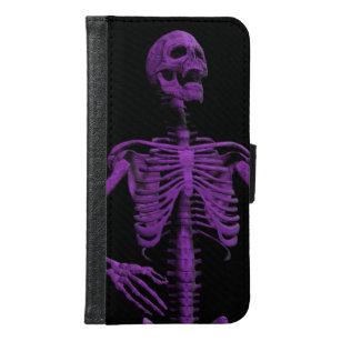 Capa Carteira Para Samsung Galaxy S6 esqueleto roxo de Air Guitar