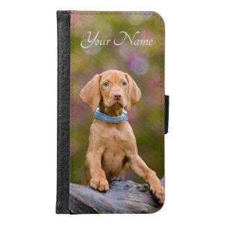 Capa Carteira Para Samsung Galaxy S6 Filhote de cachorro puppyeyed bonito do cão de