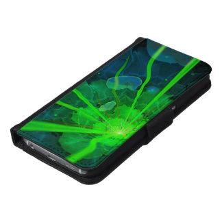 Capa Carteira Para Samsung Galaxy S6 Flor subaquática bonita do Fractal de Atlantis