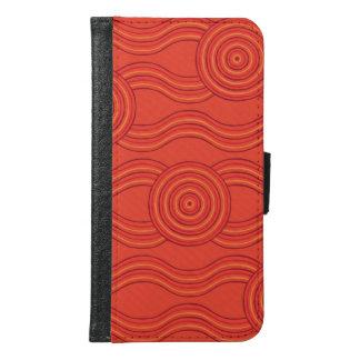 Capa Carteira Para Samsung Galaxy S6 Fogo aborígene da arte