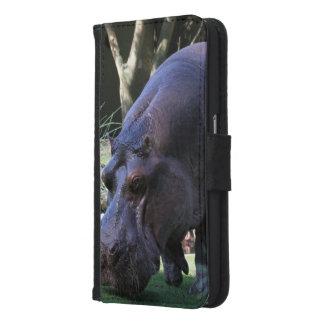 Capa Carteira Para Samsung Galaxy S6 Hipopótamo AJ17