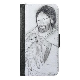 Capa Carteira Para Samsung Galaxy S6 Jesus com cordeiro