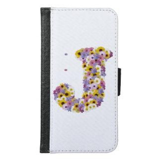 Capa Carteira Para Samsung Galaxy S6 Letra J do monograma