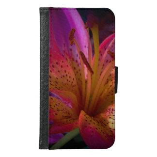 Capa Carteira Para Samsung Galaxy S6 Lírio cor-de-rosa - confusão bonita