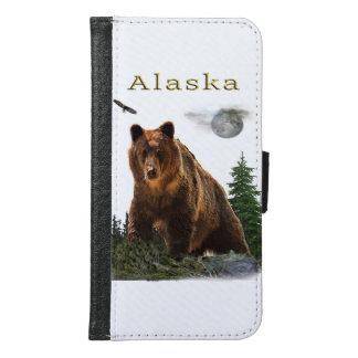 Capa Carteira Para Samsung Galaxy S6 Mercadoria do estado de Alaska
