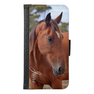Capa Carteira Para Samsung Galaxy S6 Monograma do cavalo