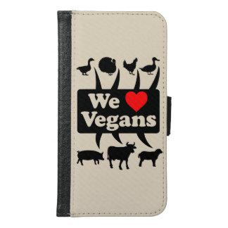 Capa Carteira Para Samsung Galaxy S6 Nós amamos Vegans II (o preto)