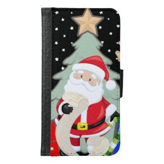 Capa Carteira Para Samsung Galaxy S6 O papai noel tem uma lista