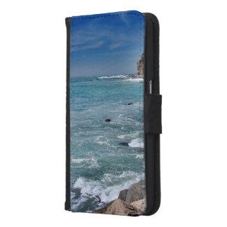 Capa Carteira Para Samsung Galaxy S6 Oceano 1 da impressão