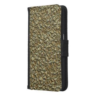 Capa Carteira Para Samsung Galaxy S6 ouro de pedra irregular