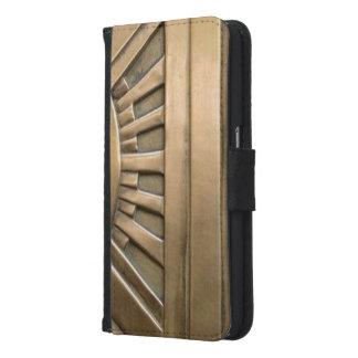 Capa Carteira Para Samsung Galaxy S6 ouro, nouveau da arte, art deco, vintage, chique,