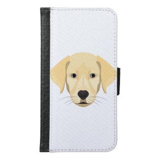 Capa Carteira Para Samsung Galaxy S6 Ouro Retriver do filhote de cachorro da ilustração