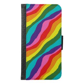 Capa Carteira Para Samsung Galaxy S6 Padrões do arco-íris