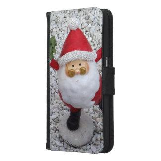 Capa Carteira Para Samsung Galaxy S6 Papai noel pequeno bonito