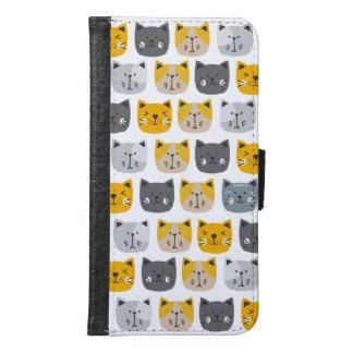 Capa Carteira Para Samsung Galaxy S6 Para o amor dos gatos