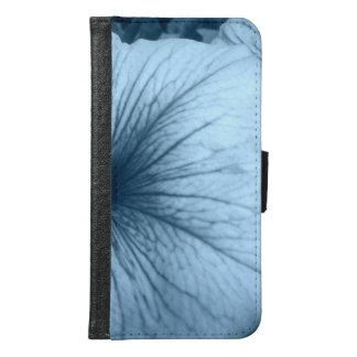 Capa Carteira Para Samsung Galaxy S6 Petúnias azuis