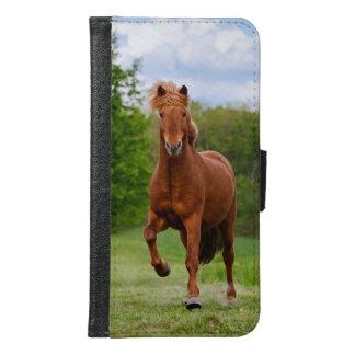 Capa Carteira Para Samsung Galaxy S6 Pônei islandês em amantes engraçados de um cavalo