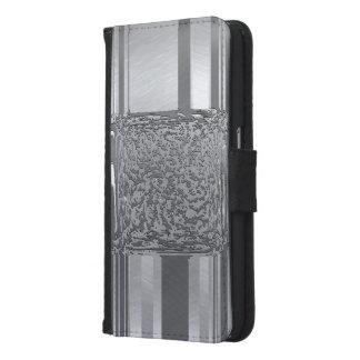 Capa Carteira Para Samsung Galaxy S6 prata 03 da arte do metal