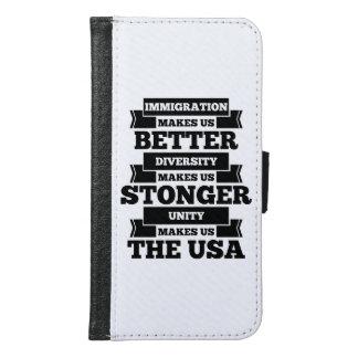Capa Carteira Para Samsung Galaxy S6 Pro imigração