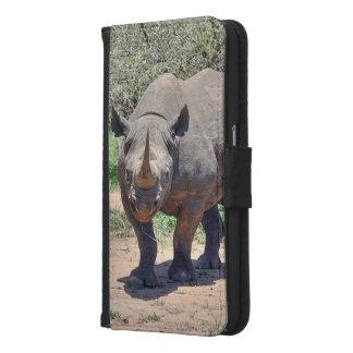 Capa Carteira Para Samsung Galaxy S6 rinoceronte