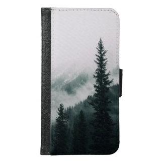 Capa Carteira Para Samsung Galaxy S6 Sobre as montanhas e a calha as madeiras