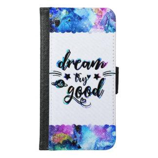 Capa Carteira Para Samsung Galaxy S6 Sonho. Tentativa. Faça bom