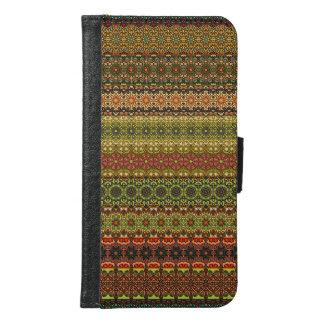 Capa Carteira Para Samsung Galaxy S6 Teste padrão asteca tribal do vintage