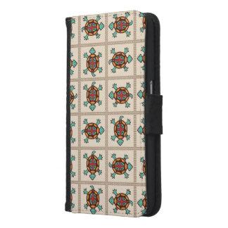 Capa Carteira Para Samsung Galaxy S6 Teste padrão do nativo americano
