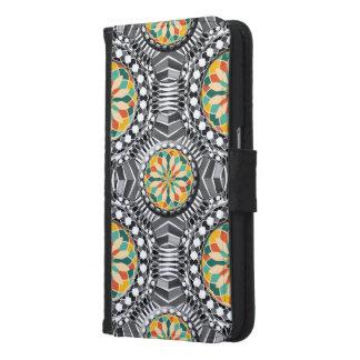 Capa Carteira Para Samsung Galaxy S6 Teste padrão geométrico chanfrado